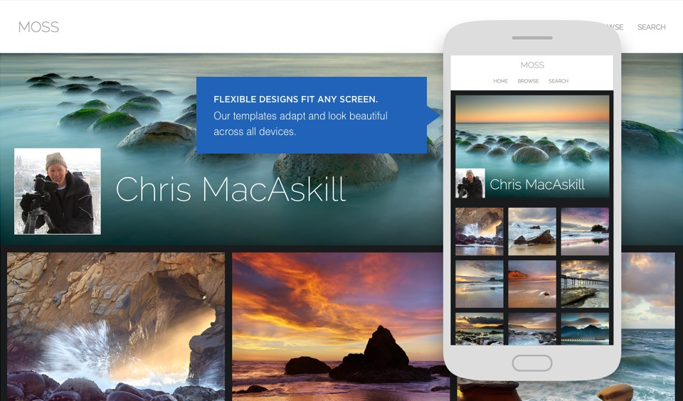 Responsive designs: Flexible designs fit any screen. Our templates adapt and look beautiful across all devices.