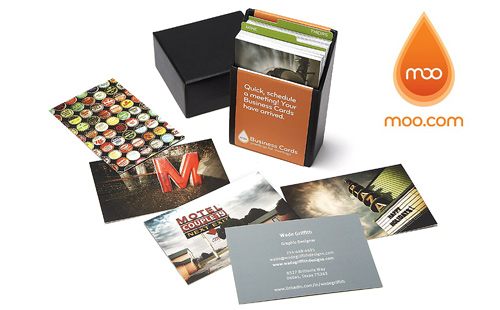 MOO custom photo business cards